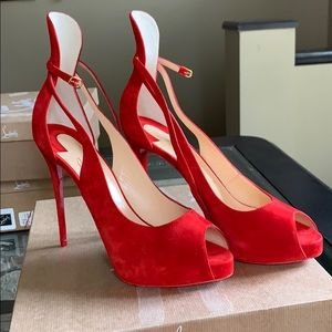 New Christian Louboutin Mascaralta Red Shoes